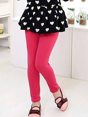 Girl's Casual/Daily Solid Leggings,Cotton Summer / Spring / Fall Green / Pink / Red / Yellow