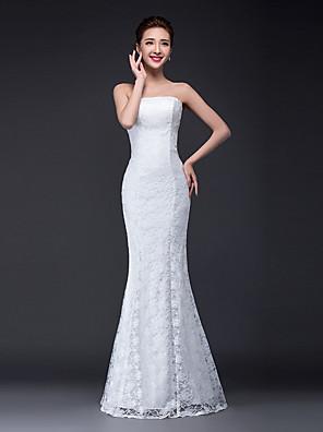 Sereia Vestido de Noiva Longo Tomara que Caia Renda / Tule com Renda