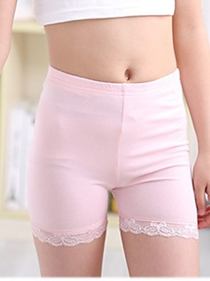 Girl's Casual/Daily Solid Shorts,Cotton All Seasons Black / Pink / White