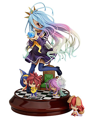 žádná hra není život shiro figurky 20 cm anime akční model, hračky panenka hračky (bez 4 postaviček)