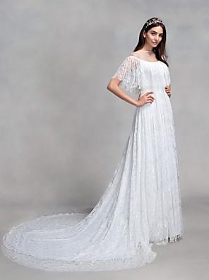 2017 Lanting bride® si linii svatební šaty soudu vlak bateau krajky s krajkou