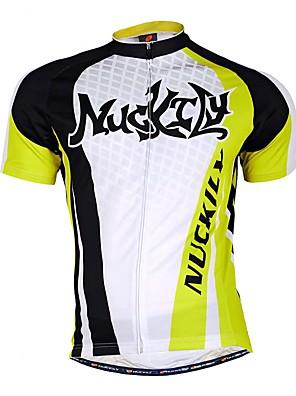 ספורטיבי חולצת ג'רסי לרכיבה לגברים שרוול קצר אופניים נושם / תומך זיעה חולצה+שורטס / צמרות / תחתיות טרילן / טאקטל / Chinlon רזהאביב / קיץ