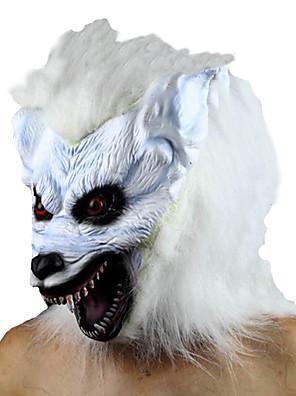 Maska Monsters Festival/Svátek Halloweenské kostýmy Bílá Jednobarevné Maska Halloween Unisex Latex