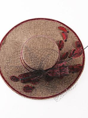 Žena Len Vintage / Party Celý rok Bucket klobouček