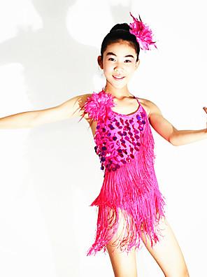 Dança Latina Lenços de Quadril para Dança do Ventre Mulheres / Crianças Actuação Elastano / Poliéster / LantejoulasCristal/Strass /