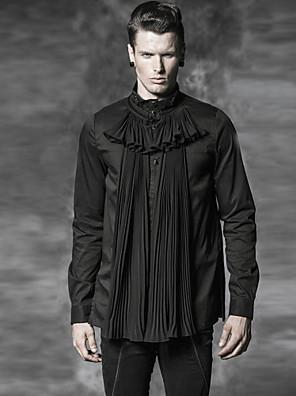 PUNKI RAVE Y-472 Men's Casual Pure Long Sleeve Regular Shirt