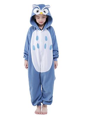 Kigurumi Pyžama New Cosplay® / Sova Leotard/Kostýmový overal Festival/Svátek Animal Sleepwear Halloween Modrá Patchwork Velvet Mink
