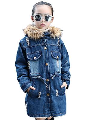 Dívka je Běžné/Denní Patchwork Zima / Jaro / Podzim Džíny / Bundičky a kabáty Bavlna Modrá