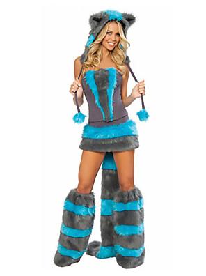 Cosplay Kostýmy / Kostým na Večírek Zvířecí / Bunny Girls Festival/Svátek Halloweenské kostýmy Černá / Modrá RetroŠaty / Ponožky / Ocas /