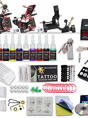 professionel tatovering kit 3 top-maskiner 10 farve blæk