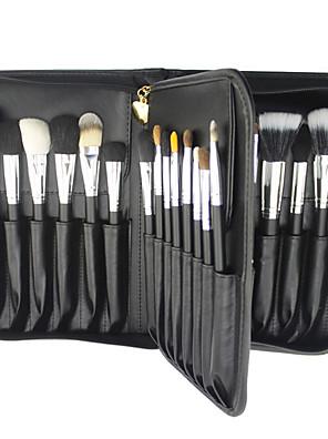 29 Conjuntos de pincel Escova de Cabelo Mink Profissional / Cobertura Total / Portátil Madeira Rosto / Olhos / Lábio Outros