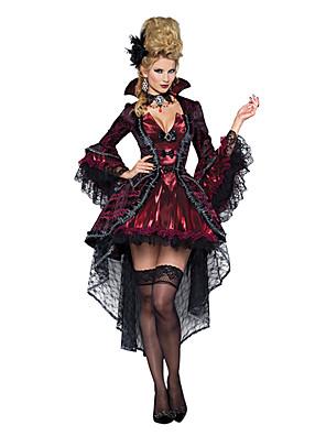 Cosplay Kostýmy / Kostým na Večírek Duch / Zombie / Upír Festival/Svátek Halloweenské kostýmy Červená / Černá Retro ŠatyHalloween /