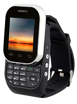 "Kenxinda w1 ≤3 "" Android 5.1 Armbanduhr mit Handy (Single SIM Andere 0.8 MP <256MB + N/A Schwarz / Weiß)"