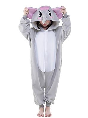 Kigurumi Pyžama New Cosplay® / Slon Leotard/Kostýmový overal Festival/Svátek Animal Sleepwear Halloween Šedá Jednobarevné polar fleece
