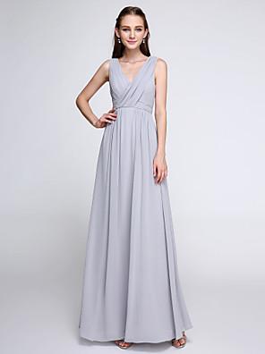 2017 Lanting bride® kotníky šifónové družička šaty - barevný blok pláště / sloupce výstřih s criss křížem