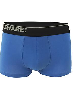 Corrida Cuecas Boxers Homens Respirável / Compressão Algodão Corrida Esportivo Stretchy Apertado Roupas para Lazer AzulPrimavera / Verão