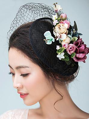נשים סאטן / פשתן כיסוי ראש-חתונה / אירוע מיוחד קישוטי שיער / כובעים / Birdcage Veils חלק 1