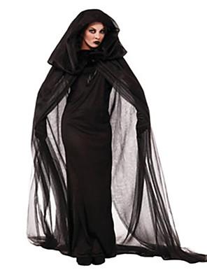 Cosplay Kostýmy / Kostým na Večírek Duch / Zombie / Upír Festival/Svátek Halloweenské kostýmy Černá Retro Šaty / PřehozHalloween / Vánoce