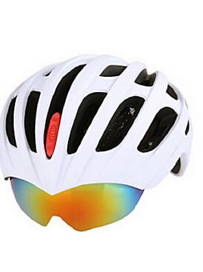 Capacete(Branco / Vermelho / Cinzento / Azul,PC / EPS) -Montanha / Estrada / Esportes-Unisexo 15 AberturasCiclismo / Ciclismo de Montanha