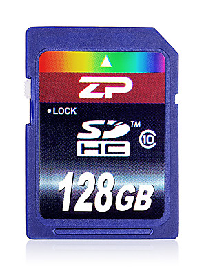 ZP 128GB Classe 10 SD/SDHC/SDXCMax Read Speed80 (MB/S)Max Write Speed20 (MB/S)
