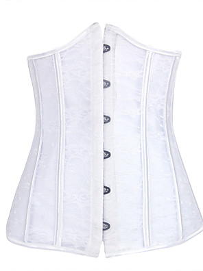 Burvogue Women's Fashion Spiral Steel Boned Underbust Waist Training Corset