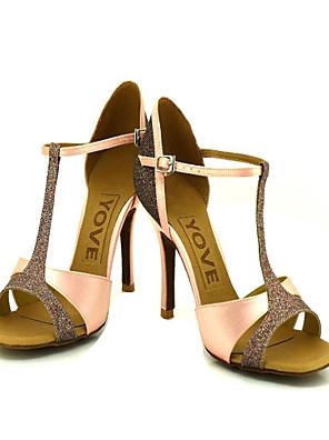Testreszabott Női szatén és Sparkling Glitter Felső Dance Shoes (több szín)