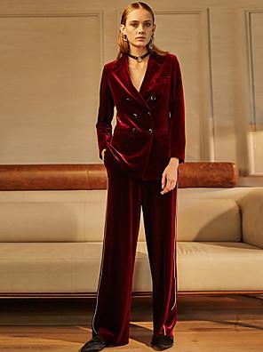 ג + להרשים pantssimple מכנסי הכותנה אדום המוצק של נשים