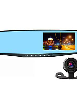 Fabriek-OEM 4,3 inch Allwinner TF-kaart Zwart Auto Camera