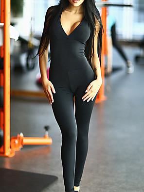 Katoen / Polyester-Micro-elastischVrouwen-Sexy / Actief-Jumpsuits-Mouwloos