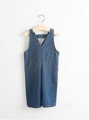 Menina de Jeans / Jardineira & Macacão,Casual Cor Única Algodão Primavera / Outono Azul