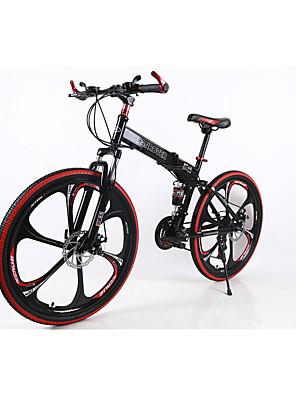 אופני הרים / מתקפל אופניים רכיבת אופניים 21 מהיר 700CC/26 אינץ' גברים SHIMANO TX30 דיסק בלימה כפול מזלג קפיצים מתלה אחורי רגיל JINDIE®