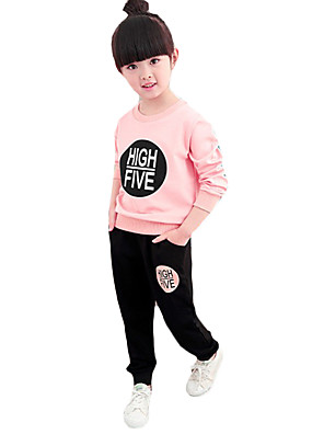 Girl's Casual/Daily Print Suit & BlazerCotton / Spandex Spring / Fall Pink
