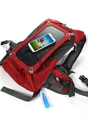 42L L ערכות תיקי גב / תיק מטיילים מחנאות וטיולים / טיפוס טבע תיקי לפטופ / ניתן ללבישה / כולל שלפוחית השתן מים / פאנל סולרי אדום קנבס BY