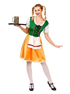 Fantasias de Cosplay Mais Fantasias Festival/Celebração Trajes da Noite das Bruxas Verde / Amarelo Patchwork Vestido / Mais AcessóriosDia