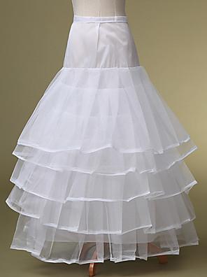תחתונית  סליפ שמלת נשף אורך עד לרצפה 5 פוליאסטר לבן