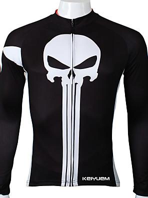 KEIYUEM® חולצת ג'רסי לרכיבה לנשים / לגברים / יוניסקס שרוול ארוך אופנייםעמיד למים / נושם / ייבוש מהיר / עיצוב אנטומי / מוגן מגשם / רוכסן