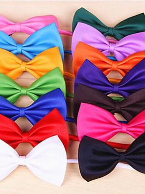חתולים / כלבים קשר Red / כתום / צהוב / ירוק / סגול / Black / לבן / ורוד / ורד / ירוק בהיר / ציאן בגדים לכלבים קיץ/אביב סרט פרפרחג / חתונה