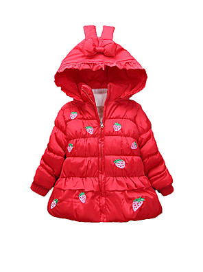 Girl's Casual/Daily Print BlouseCotton Winter Green / Pink / Red