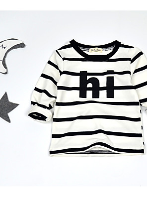 Boy's Casual/Daily Striped Hoodie & SweatshirtCotton Winter / Fall White