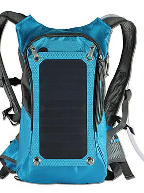 42L L ערכות תיקי גב / תיק מטיילים מחנאות וטיולים / טיפוס טבע תיקי לפטופ / ניתן ללבישה / כולל שלפוחית השתן מים / פאנל סולרי כחול קנבס BY