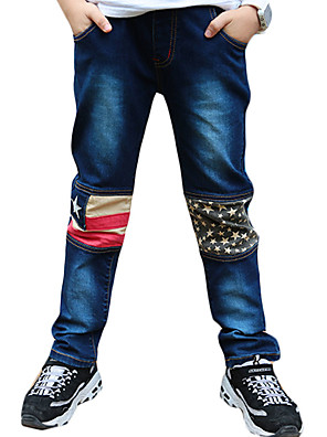Boy's Casual/Daily Patchwork Jeans,Polyester Winter / Fall Blue