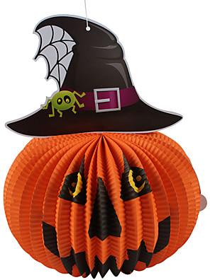 Mais Acessórios / Artigos de Halloween Vermelho / Roxo / Branco / Preto / Laranja / Azul / Azul e Prateado / Laranja e Preto Papel
