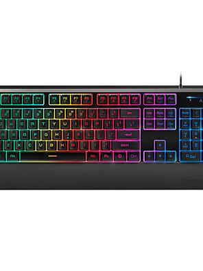 rapoo gaming toetsenbord mechanische aanraking V56 ergonomische multimedia waterdicht toetsenbord met achtergrondverlichting usb bedraad 104keys