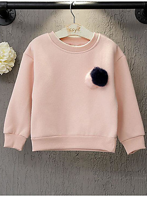 Girl's Casual/Daily Solid Hoodie & SweatshirtCotton Winter / Fall Pink / Yellow