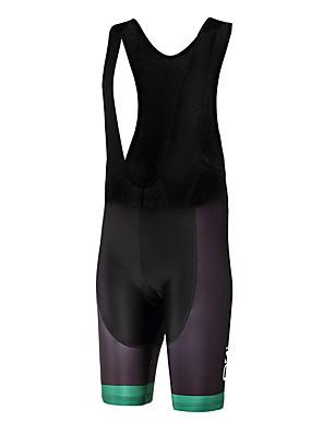 ספורטיבי מכנס קצר ביב לרכיבה יוניסקס נושם / ייבוש מהיר / עיצוב אנטומי / לביש אופניים מכנסיים קצרים עם כתפיות פוליאסטר / LYCRA® קלאסירכיבה