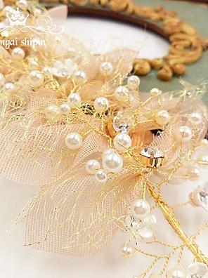 Véus de Noiva Uma Camada Peça para Cabeça com Véu Borda Lápis Organza