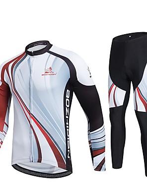 Esportivo Calça com Camisa para Ciclismo Unissexo Manga Comprida MotoRespirável / Secagem Rápida / A Prova de Vento / Design Anatômico /