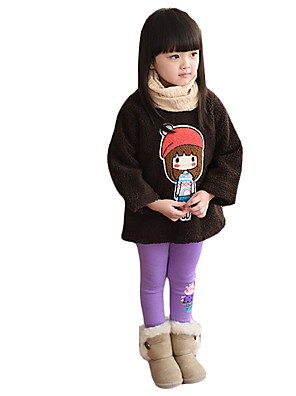 Girl's Casual/Daily Patchwork Hoodie & SweatshirtCotton / Spandex / Others Winter Brown / Yellow