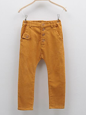 Girl's Casual/Daily Solid PantsCotton Fall Yellow