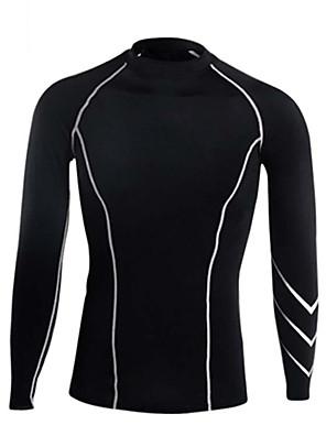 ריצה טי שירט / בגדים צמודים / צמרות לגברים שרוול ארוך נושם / דחיסה / תומך זיעה LYCRA® כושר גופני / ריצה ספורטיבי בגדי ספורטגמישות גבוהה /